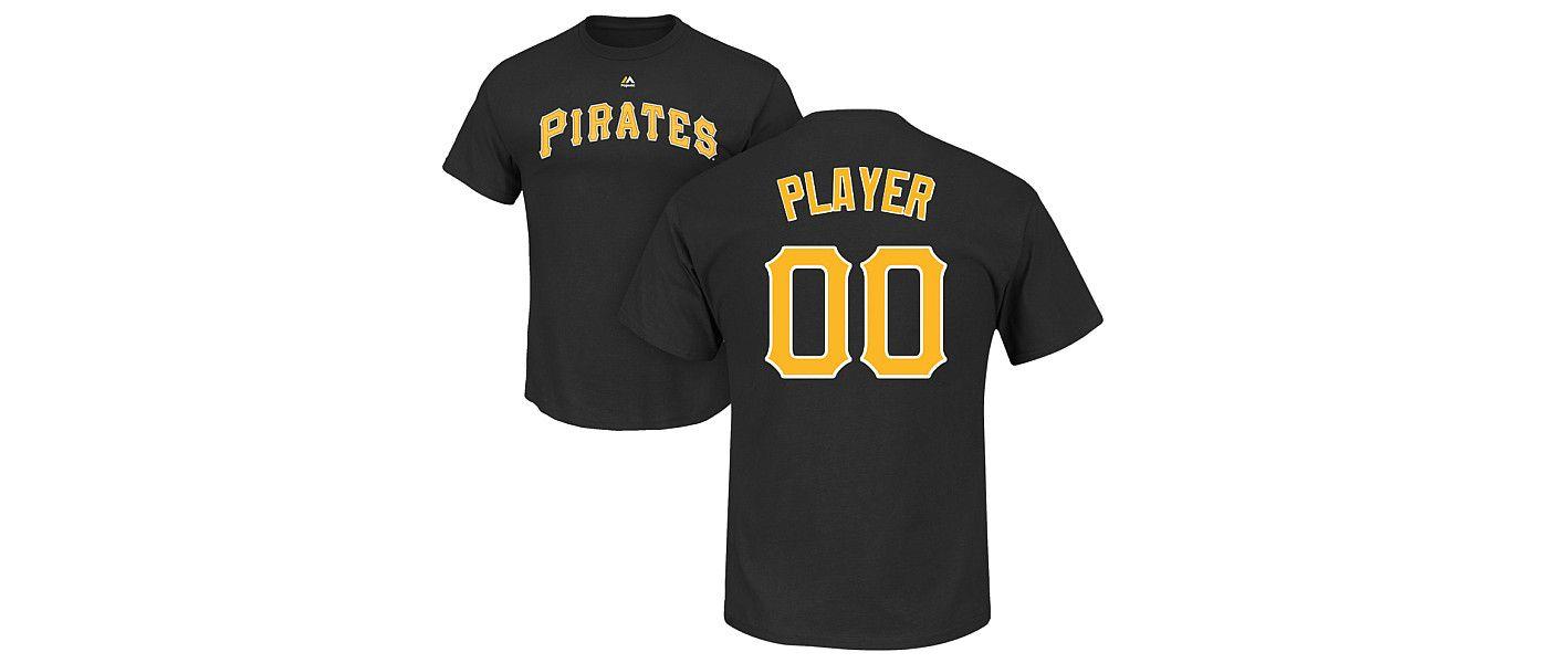 Majestic Men's Full Roster Pittsburgh Pirates Black T-Shirt