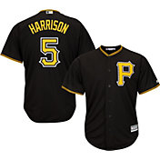 Majestic Men's Replica Pittsburgh Pirates Josh Harrison #5 Cool Base Alternate Black Jersey