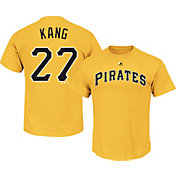 Majestic Men's Pittsburgh Pirates Jung-ho Kang #27 Gold T-Shirt