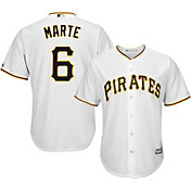 4c3619b36d8 Product Image · Majestic Men s Replica Pittsburgh Pirates Starling Marte  6  Cool Base Home White Jersey