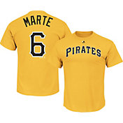 Majestic Men's Pittsburgh Pirates Starling Marte #6 Gold T-Shirt