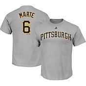 Majestic Men's Pittsburgh Pirates Starling Marte #6 Grey T-Shirt