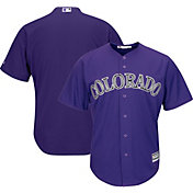 Majestic Men's Replica Colorado Rockies Cool Base Alternate Purple Jersey