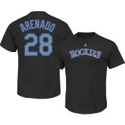 Majestic Men's Colorado Rockies Nolan Arenado #28 Black T-Shirt