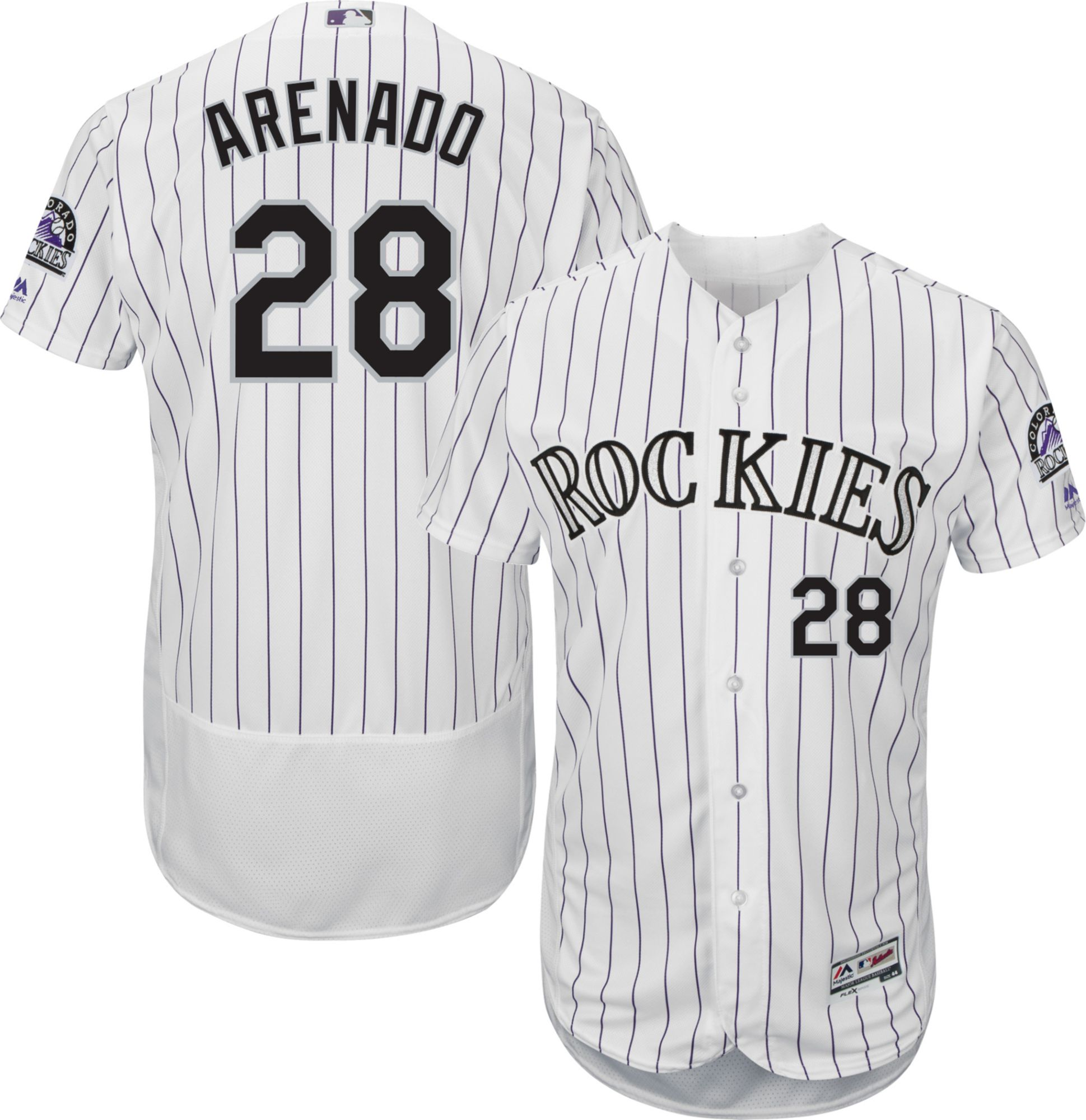 5dc7d6b4c25 Majestic Men s Authentic Colorado Rockies Nolan Arenado  28 Flex ...