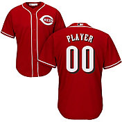 Majestic Men's Full Roster Cool Base Replica Cincinnati Reds Alternate Red Jersey