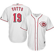 Majestic Men's Replica Cincinnati Reds Joey Votto #19 Cool Base Home White Jersey