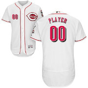 Majestic Men's Full Roster Authentic Cincinnati Reds Flex Base Home White On-Field Jersey