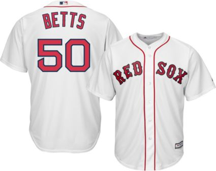 0481d14f ... closeout majestic mens replica boston red sox mookie betts 50 cool base  home white jersey 046f7 hot womens authentic ...