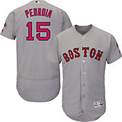 Product Image · Majestic Men s Authentic Boston Red Sox Dustin Pedroia  15  Road Grey Flex Base On- e91ef07ed55
