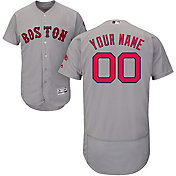 Majestic Men's Custom Authentic Boston Red Sox Flex Base Road Grey On-Field Jersey