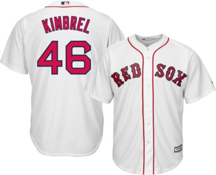 promo code c8f27 de34c Majestic Men's Replica Boston Red Sox Craig Kimbrel #46 Cool Base Home  White Jersey