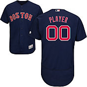 Majestic Men's Full Roster Authentic Boston Red Sox Flex Base Alternate Navy On-Field Jersey