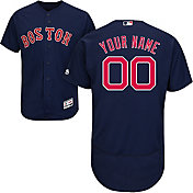 Majestic Men's Custom Authentic Boston Red Sox Flex Base Alternate Navy On-Field Jersey
