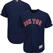 Majestic Men's Authentic Boston Red Sox Alternate Navy Flex Base On-Field Jersey