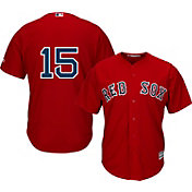 Majestic Men's Replica Boston Red Sox Dustin Pedroia #15 Cool Base Alternate Red Jersey