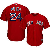 Majestic Men's Replica Boston Red Sox David Price #24 Cool Base Alternate Red Jersey