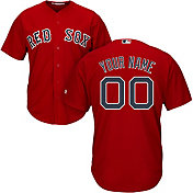 10342b0a649 Majestic Men s Custom Cool Base Replica Boston Red Sox Alternate Red Jersey
