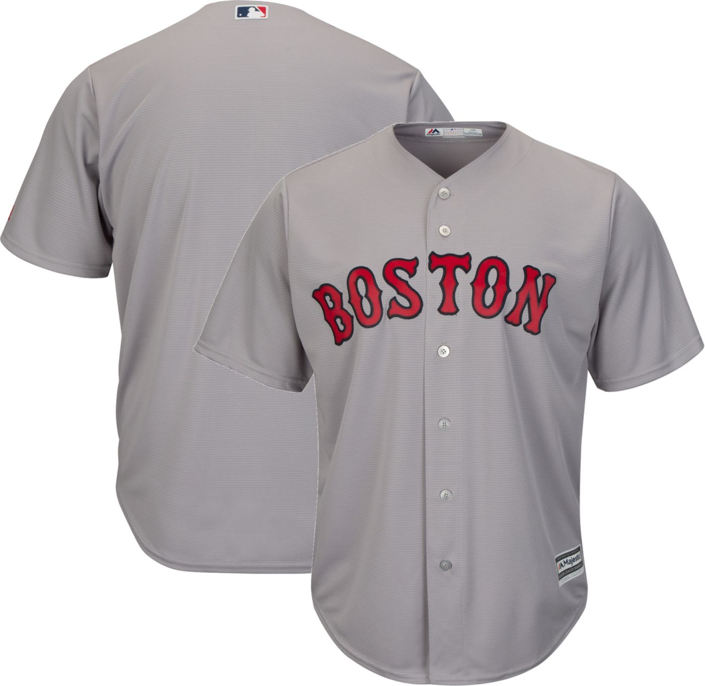 Majestic Men's Replica Boston Red Sox Cool Base Road Grey Jersey