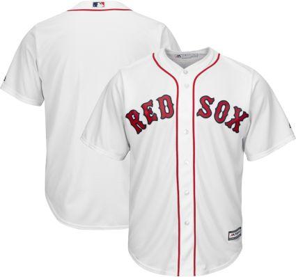 63930c3b5 Majestic Men s Replica Boston Red Sox Cool Base Home White Jersey.  noImageFound
