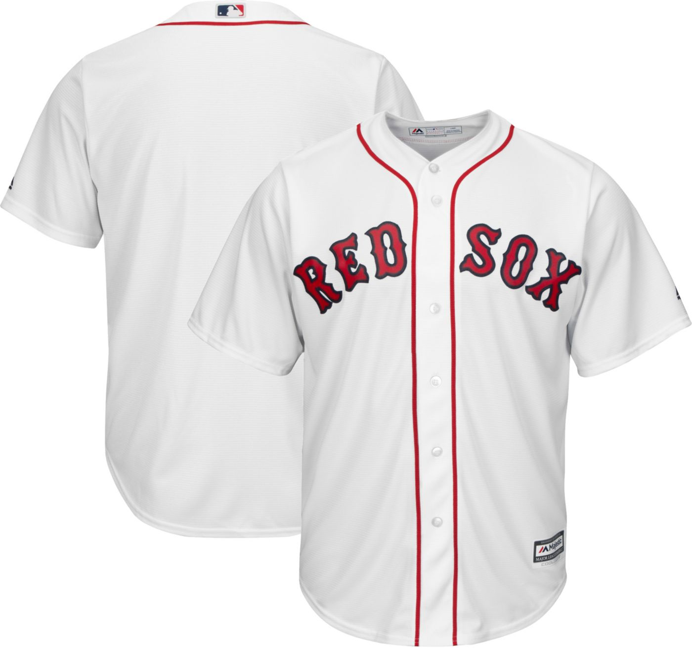 Majestic Men's Replica Boston Red Sox Cool Base Home White Jersey