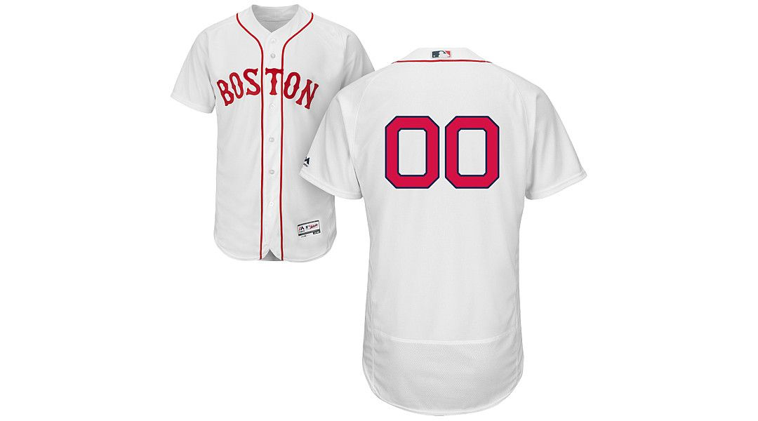 new style 1e368 78f99 Majestic Men's Full Roster Authentic Boston Red Sox Flex Base Home White  On-Field Jersey
