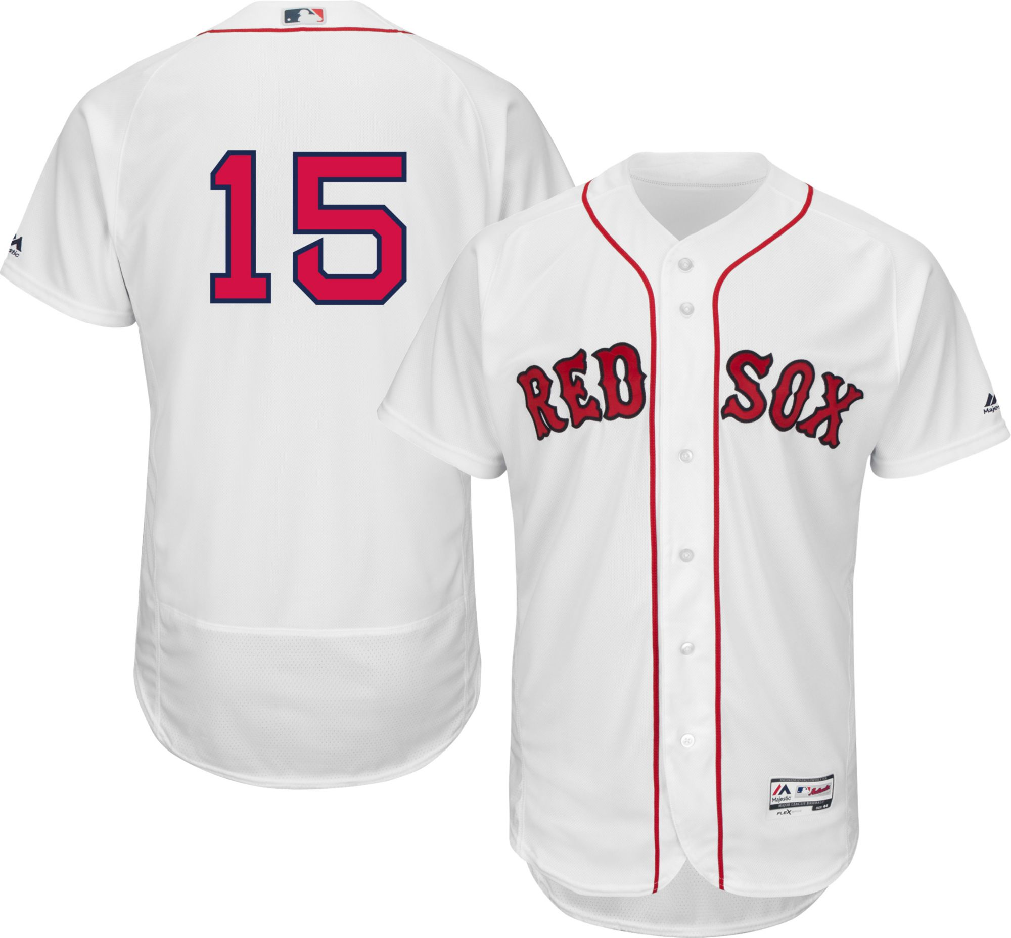 af0de85dd ... france majestic mens authentic boston red sox dustin pedroia 15 home  white flex base on field