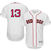 Majestic Men's Authentic Boston Red Sox Hanley Ramirez #13 Home White Flex Base On-Field Jersey