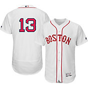 Majestic Men's Authentic Boston Red Sox Hanley Ramirez #13 Alternate Home White Flex Base On-Field Jersey