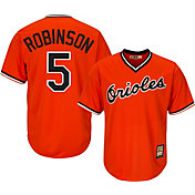 Majestic Men's Replica Baltimore Orioles Brooks Robinson Cool Base Orange Cooperstown Jersey