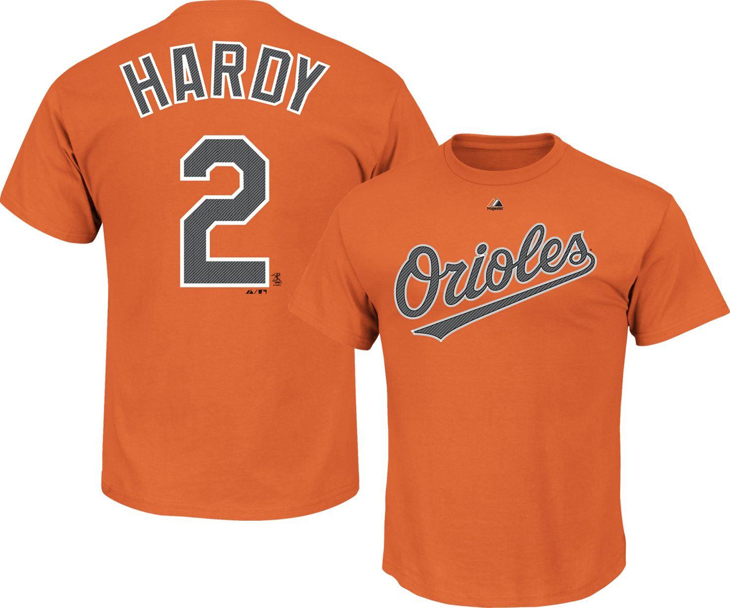 cc355fde95f ... coupon for majestic triple peak mens baltimore orioles j.j. hardy orange  t shirt dd51b 2c450