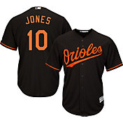 Majestic Men's Replica Baltimore Orioles Adam Jones #10 Cool Base Alternate Black Jersey