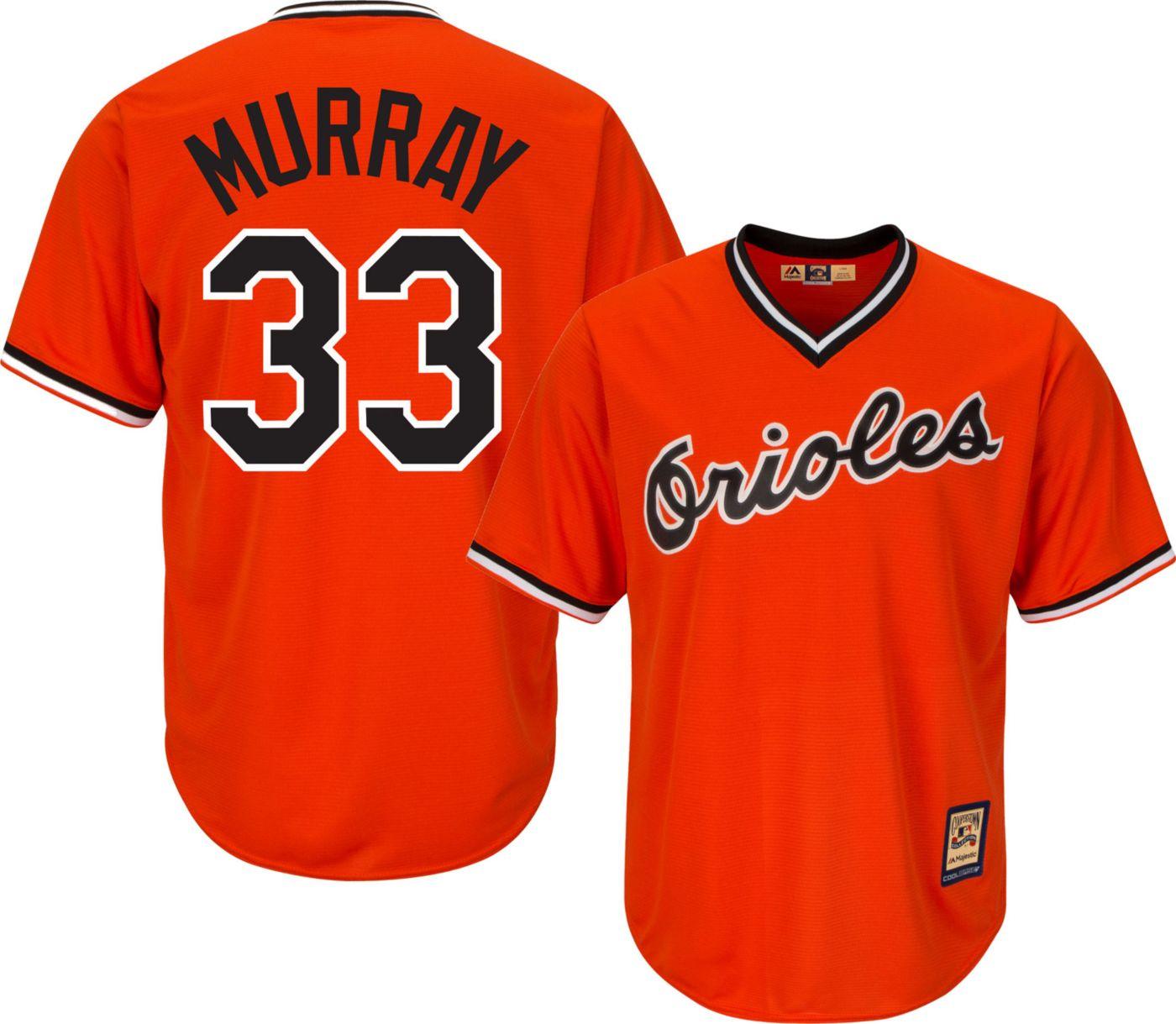 Majestic Men's Replica Baltimore Orioles Eddie Murray Cool Base Orange Cooperstown Jersey