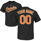 Majestic Men's Custom Baltimore Orioles Black T-Shirt
