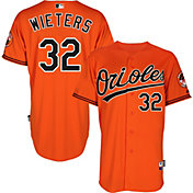 Majestic Men's Authentic Baltimore Orioles Matt Wieters #32 Cool Base Alternate Orange On-Field Jersey