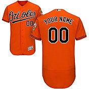 Majestic Men's Custom Authentic Baltimore Orioles Flex Base Alternate Orange On-Field Jersey