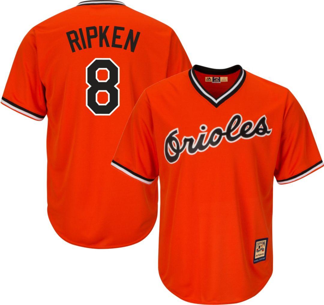 wholesale dealer 62595 a0c60 Majestic Men's Replica Baltimore Orioles Cal Ripken Jr. Cool Base Orange  Cooperstown Jersey