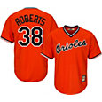Majestic Men's Replica Baltimore Orioles Robin Roberts Cool Base Orange Cooperstown Jersey