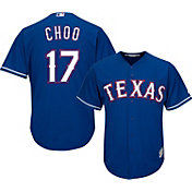 Majestic Men's Replica Texas Rangers Shin-Soo Choo #17 Cool Base Alternate Royal Jersey
