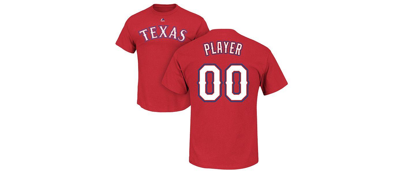 Majestic Men's Full Roster Texas Rangers Red T-Shirt