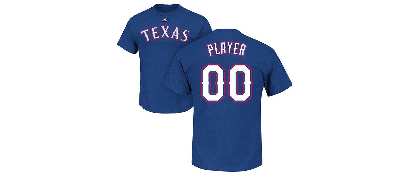 Majestic Men's Full Roster Texas Rangers Royal T-Shirt