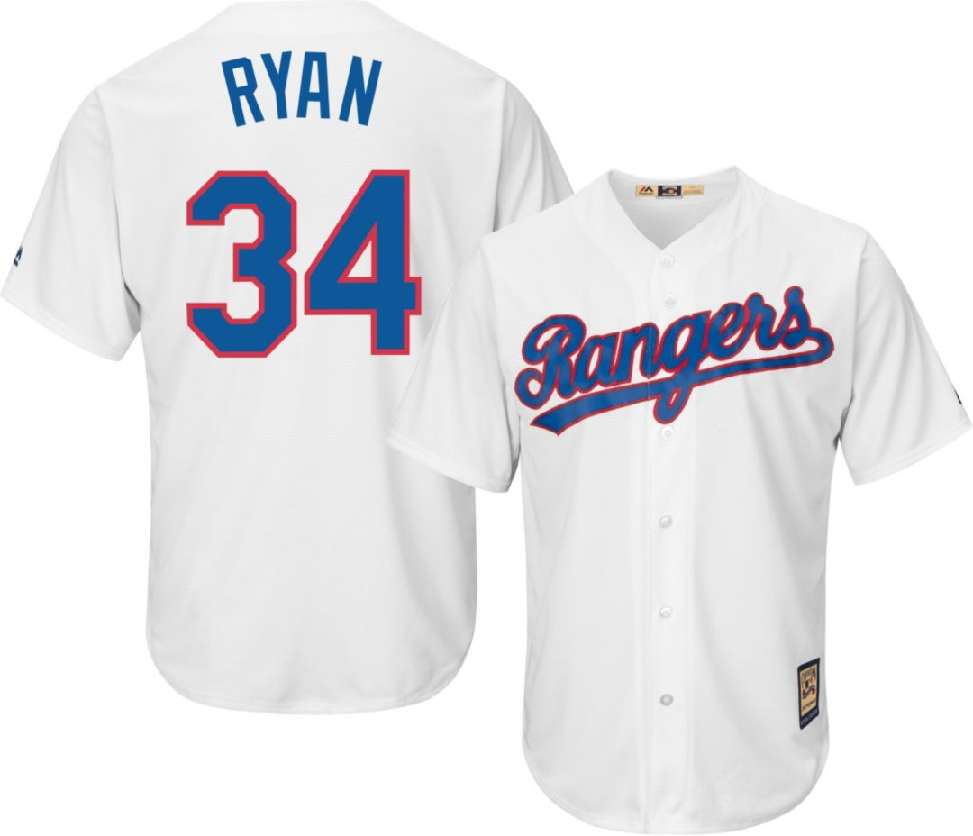 pretty nice 48ce4 9b081 Majestic Men's Replica Texas Rangers Nolan Ryan Cool Base White Cooperstown  Jersey