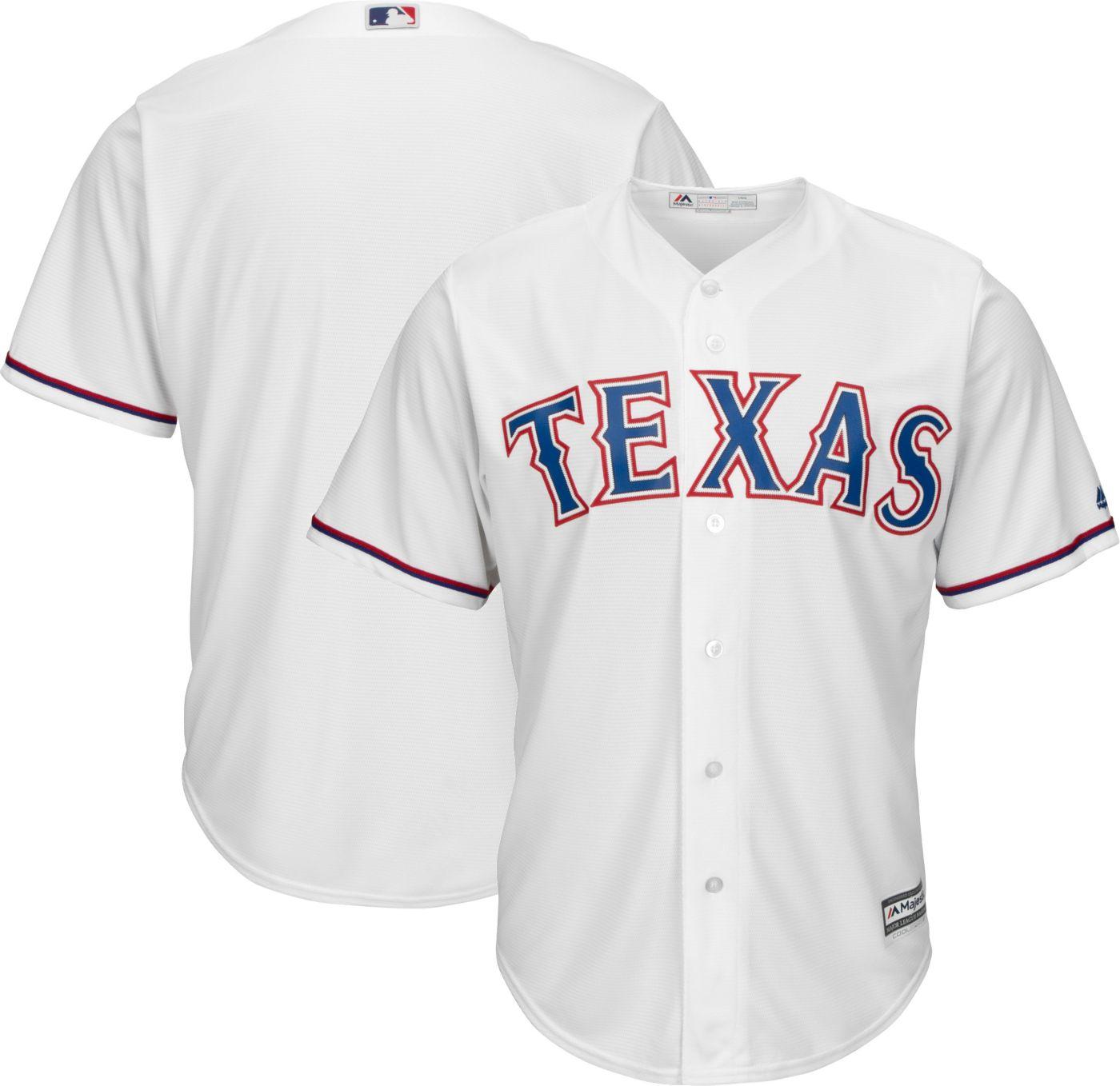 Majestic Men's Replica Texas Rangers Cool Base Home White Jersey