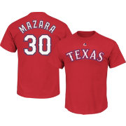 Majestic Men's Texas Rangers Nomar Mazara #30 Red T-Shirt