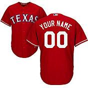 Majestic Men's Custom Cool Base Replica Texas Rangers Alternate Red Jersey