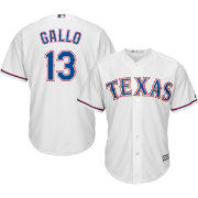 Majestic Men's Replica Texas Rangers Joey Gallo #13 Cool Base Home White Jersey