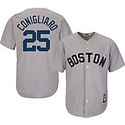 Majestic Men's Replica Boston Red Sox Tony Conigliaro Cool Base Grey Cooperstown Jersey