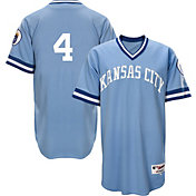 Majestic Men's Kansas City Royals Alex Gordon #4 Light Blue Turn Back The Clock Authentic Flex Base Jersey
