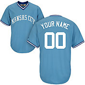 Majestic Men's Custom Cool Base Cooperstown Replica Kansas City Royals Light Blue Jersey