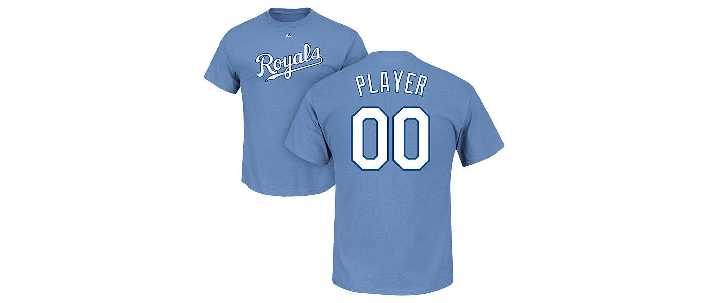 Majestic Men's Full Roster Kansas City Royals Light Blue T-Shirt